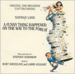 A Funny Thing Happened on the Way to the Forum Music - 1996 Broadway Cast Recording (CD) front image (front cover)
