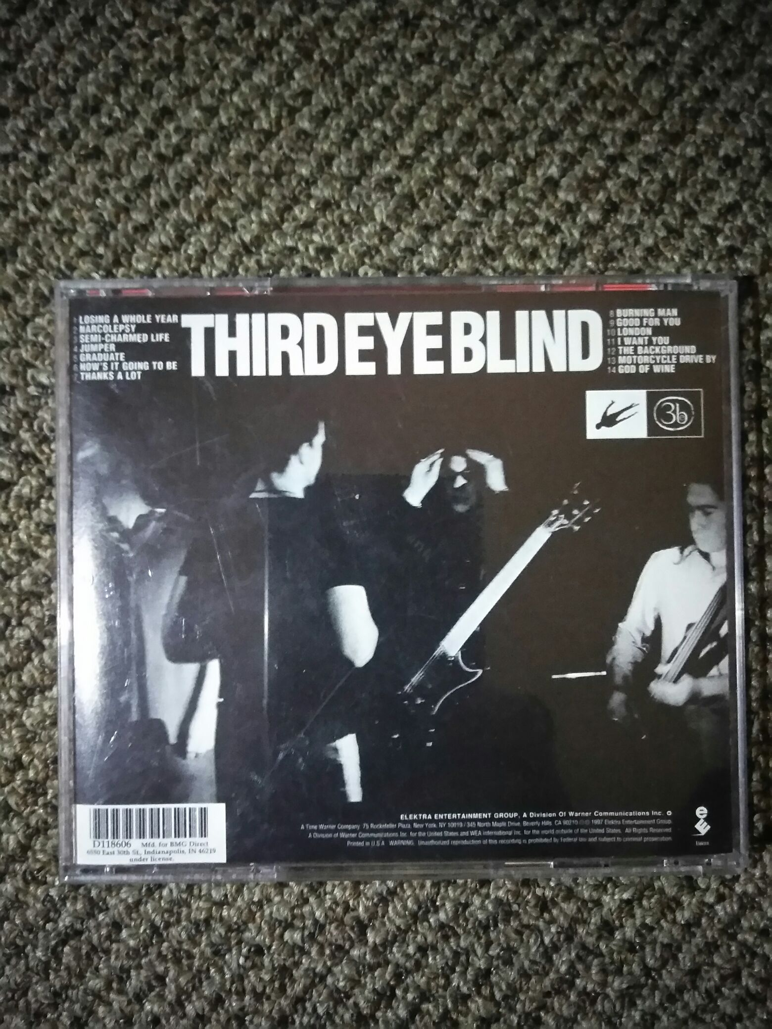 Third Eye Blind Music - Third Eye Blind (CD) back image (back cover, second image)