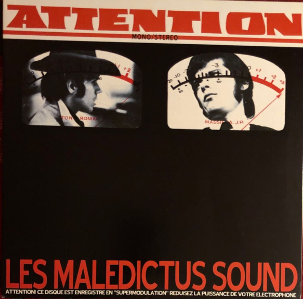 """Attention Music - Les Maledictus Sound (12"""") front image (front cover)"""