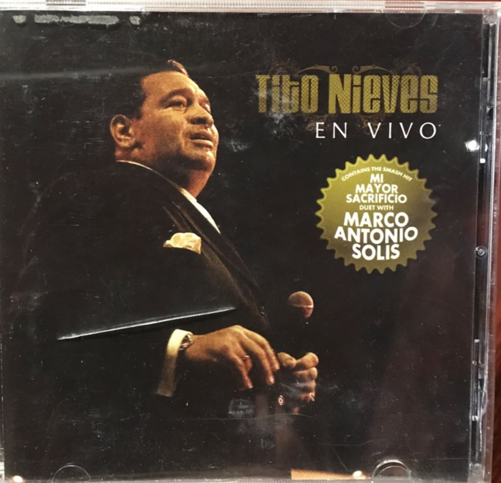 Tito Nieves en Vivo by Tito Nieves Music - Tito Nieves (CD) front image (front cover)