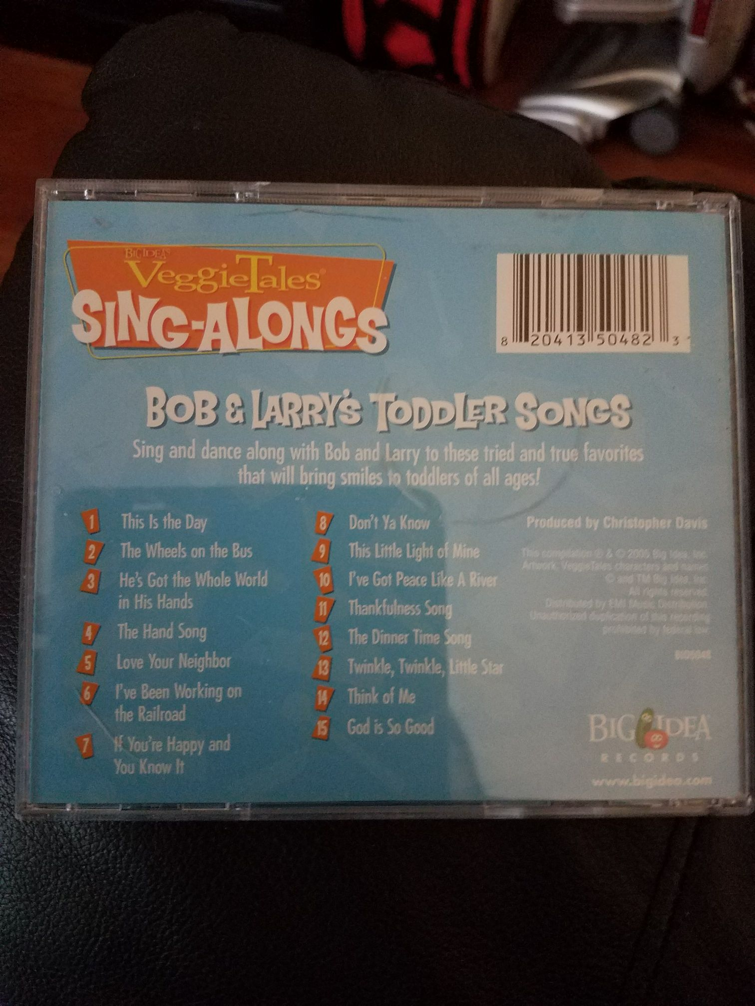 : Veggietales - Bob And Larry's Toddler Songs 15 Sing Along 2005 Big Idea Kids Music - veggietales (CD) back image (back cover, second image)