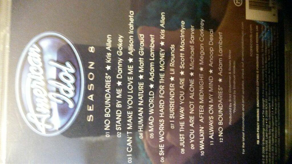 American Idol: Season 8 Music - American Idol (CD) back image (back cover, second image)