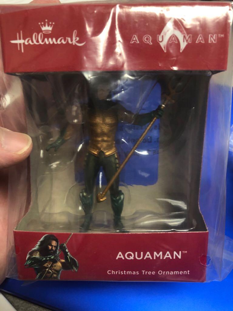 Aquaman Ornament - Hallmark (2018) front image (front cover)