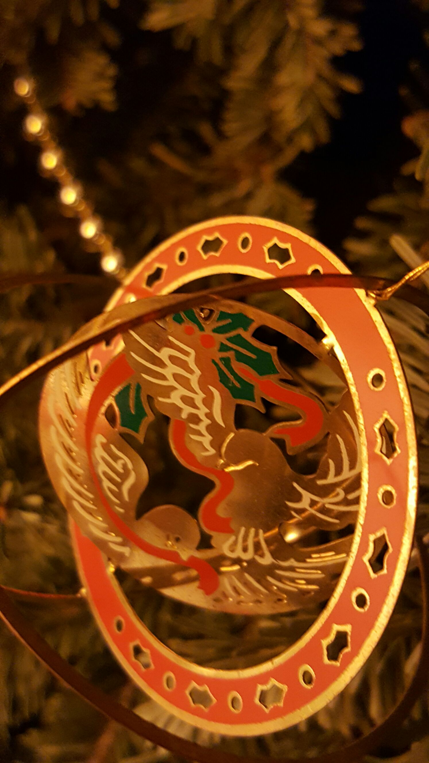 Dove of Peace Ornament back image (back cover, second image)