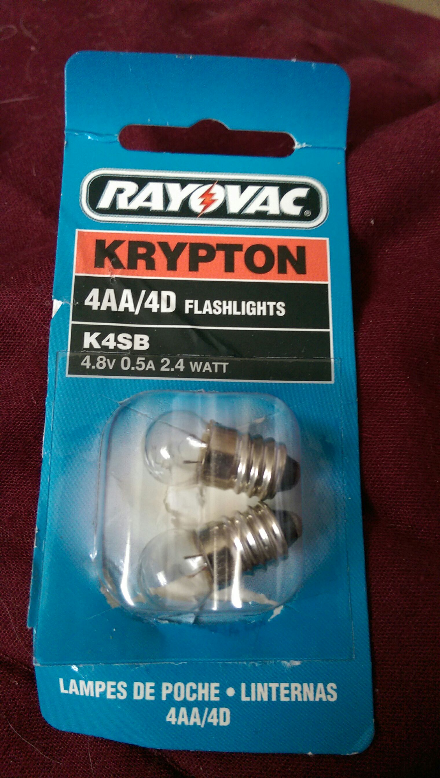 Rayovac Krypton 4 AA/4 D Flashlight bulbs Ornament - Rayovac front image (front cover)