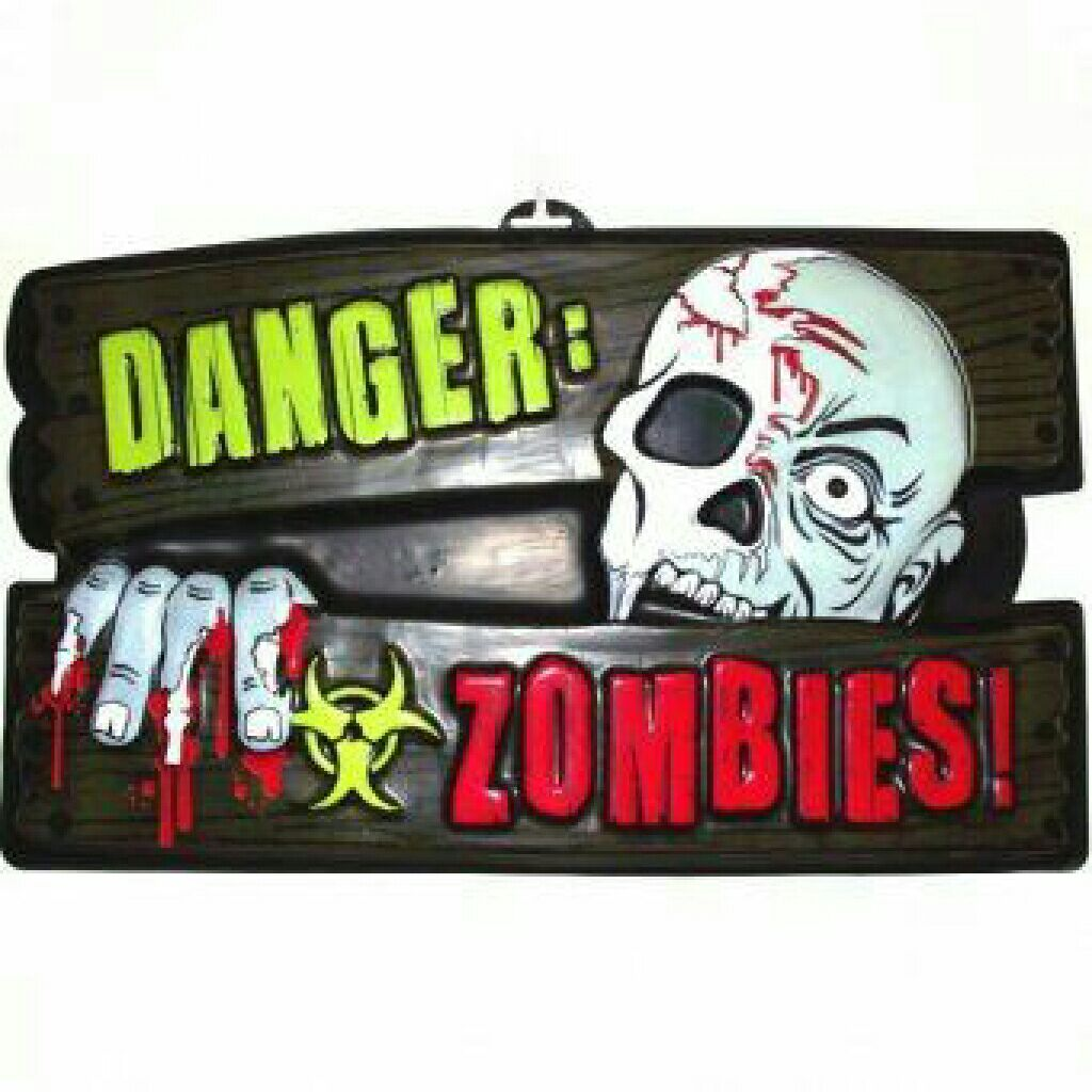 Danger Zombies sign Ornament front image (front cover)