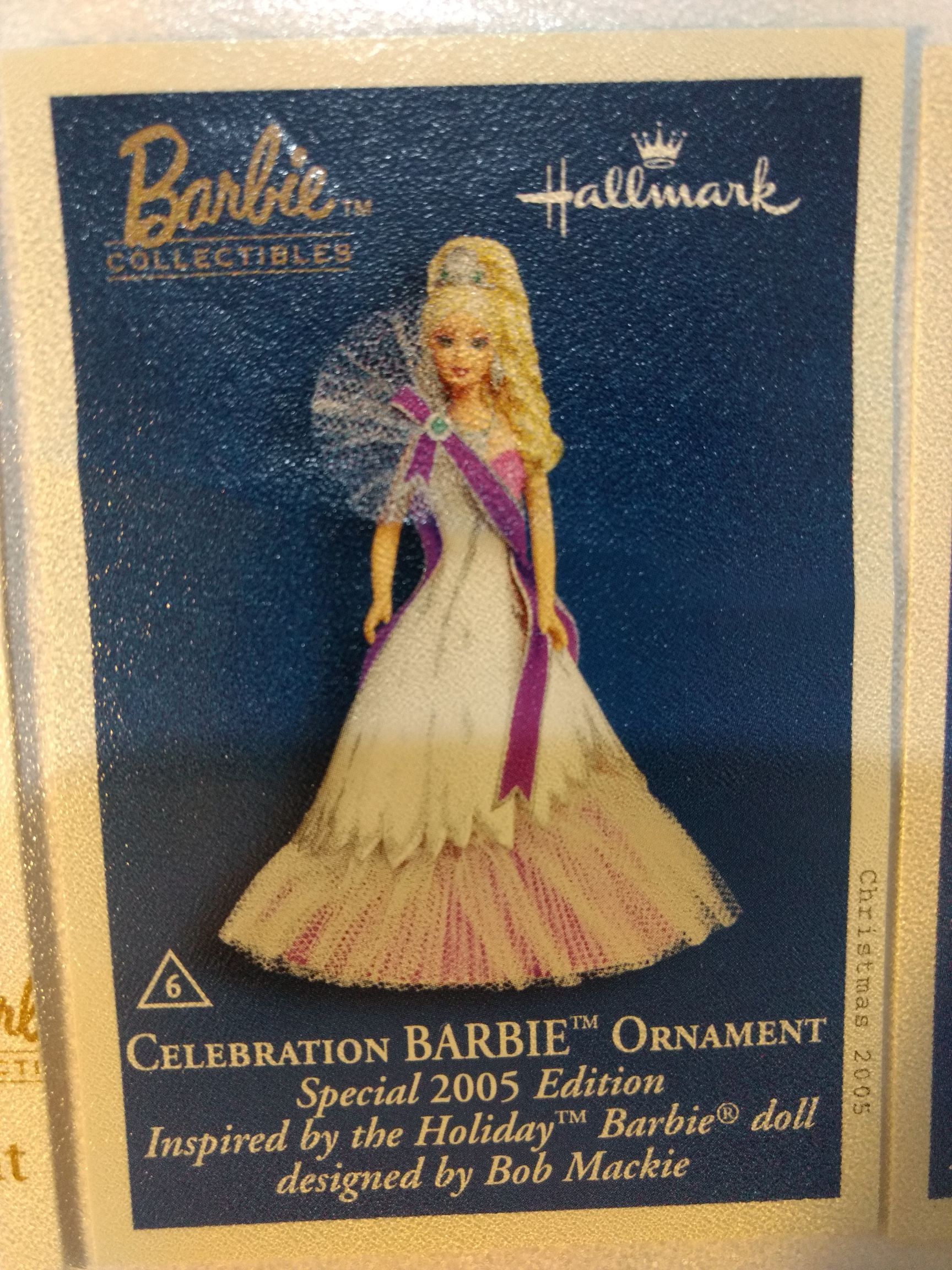 Barbie - Holiday - Celebration Barbie 2005 2005 Ornament - Hallmark (2005) front image (front cover)