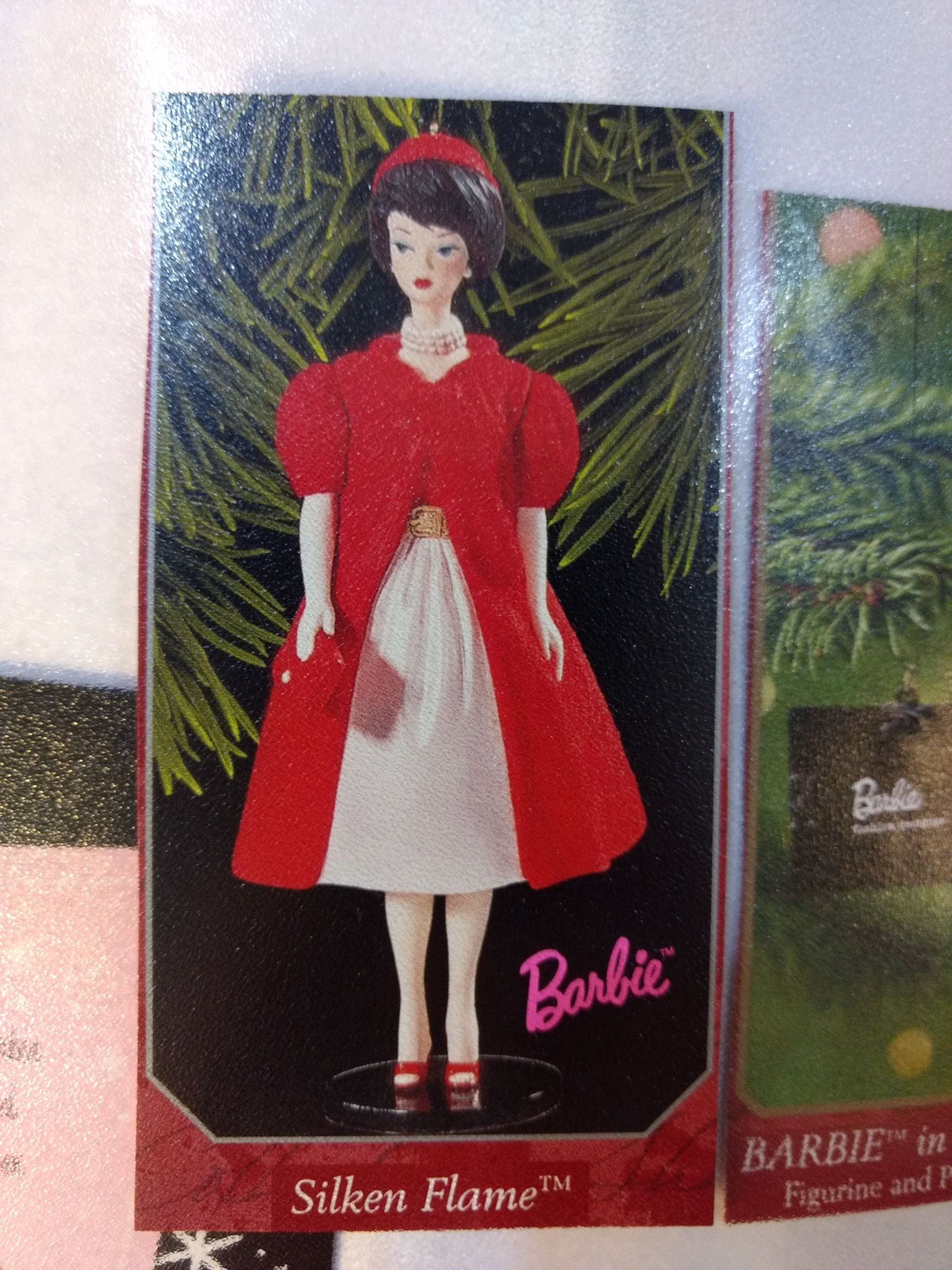 Barbie - Collectible - Silkin Flame Ornament - Hallmark front image (front cover)
