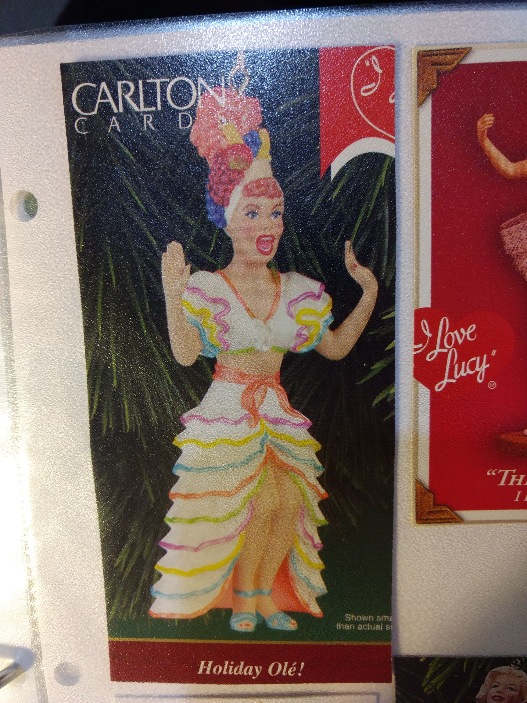 I Love Lucy - Holiday Ole Ornament - Carlton Cards front image (front cover)