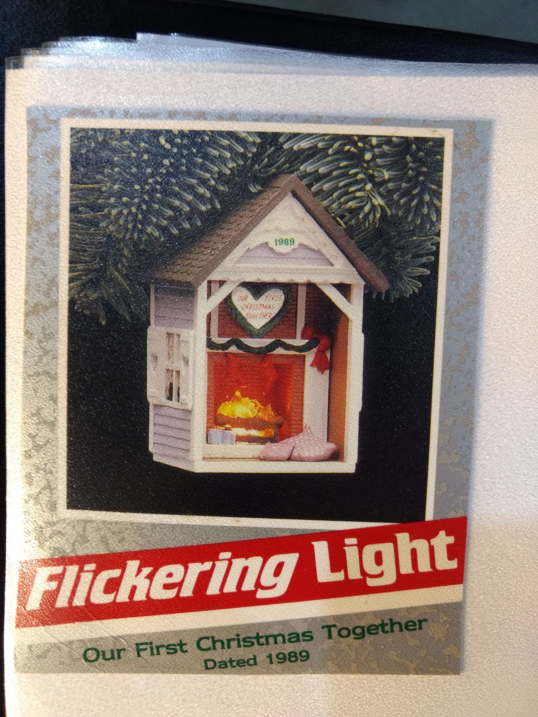 Buildings - Our First Christmas Together 1989 Ornament - Hallmark front image (front cover)