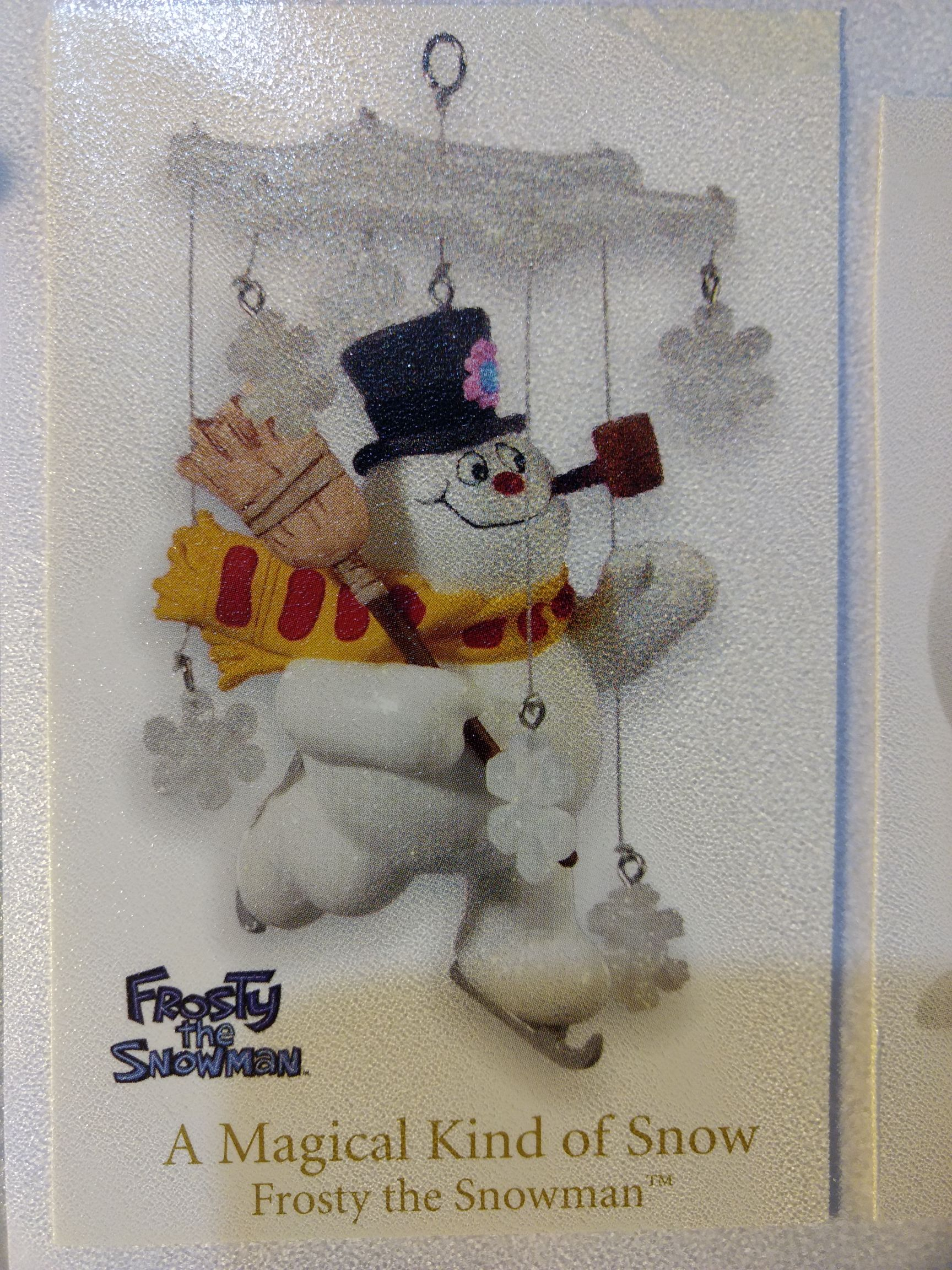 Frosty the Snowman - The Magical Kind Of Snow Ornament - Hallmark front image (front cover)