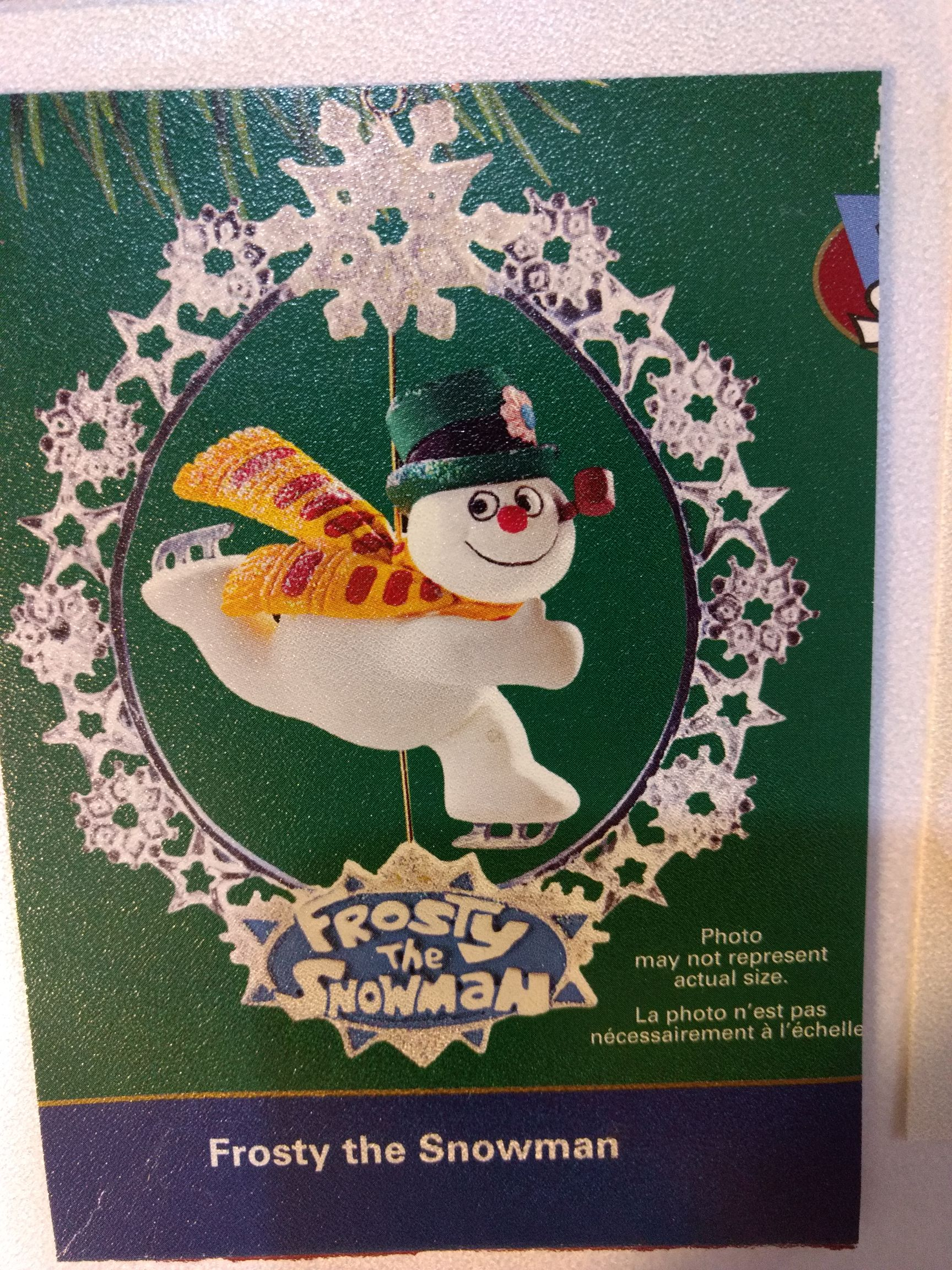 Frosty The Snowman - Snowflake Spinner Ornament - Carlton Cards front image (front cover)