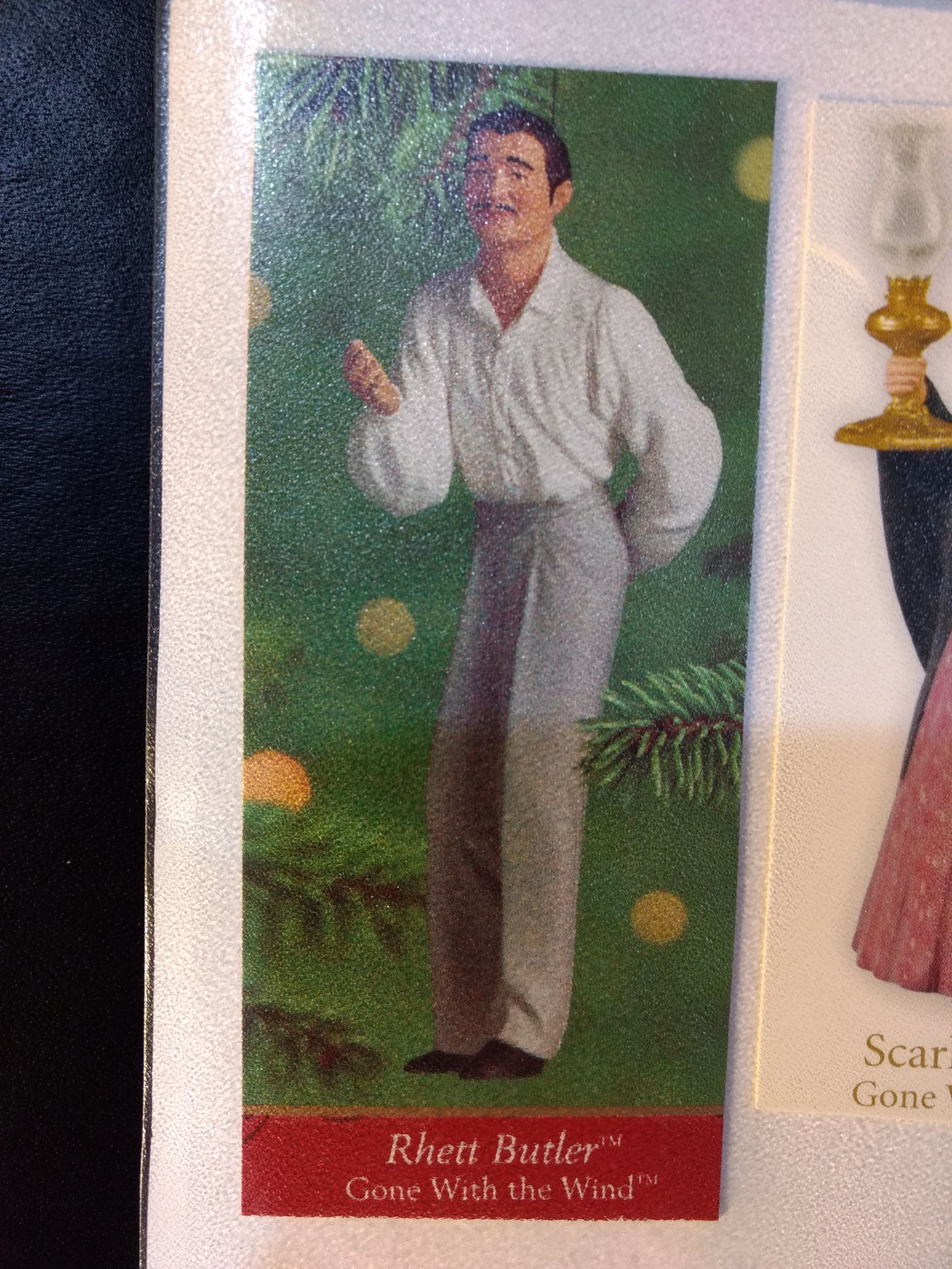 Gone With The Wind - Rhett Butler Ornament - Hallmark front image (front cover)