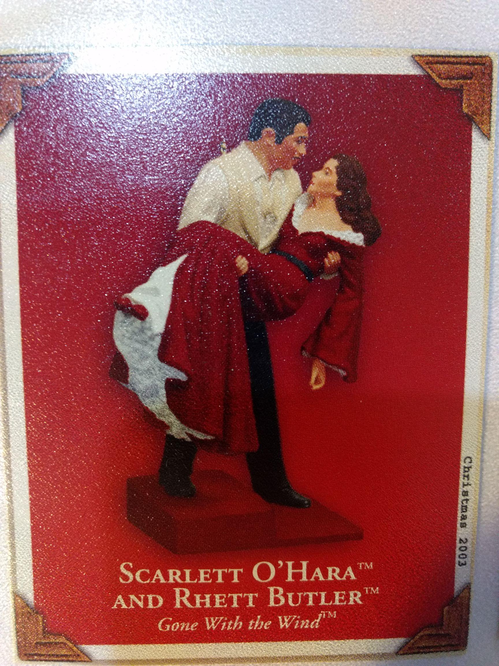 Gone With The Wind - Scarlett O'Hara & Rhett Butler - Rhett Holding Scarlett Ornament front image (front cover)