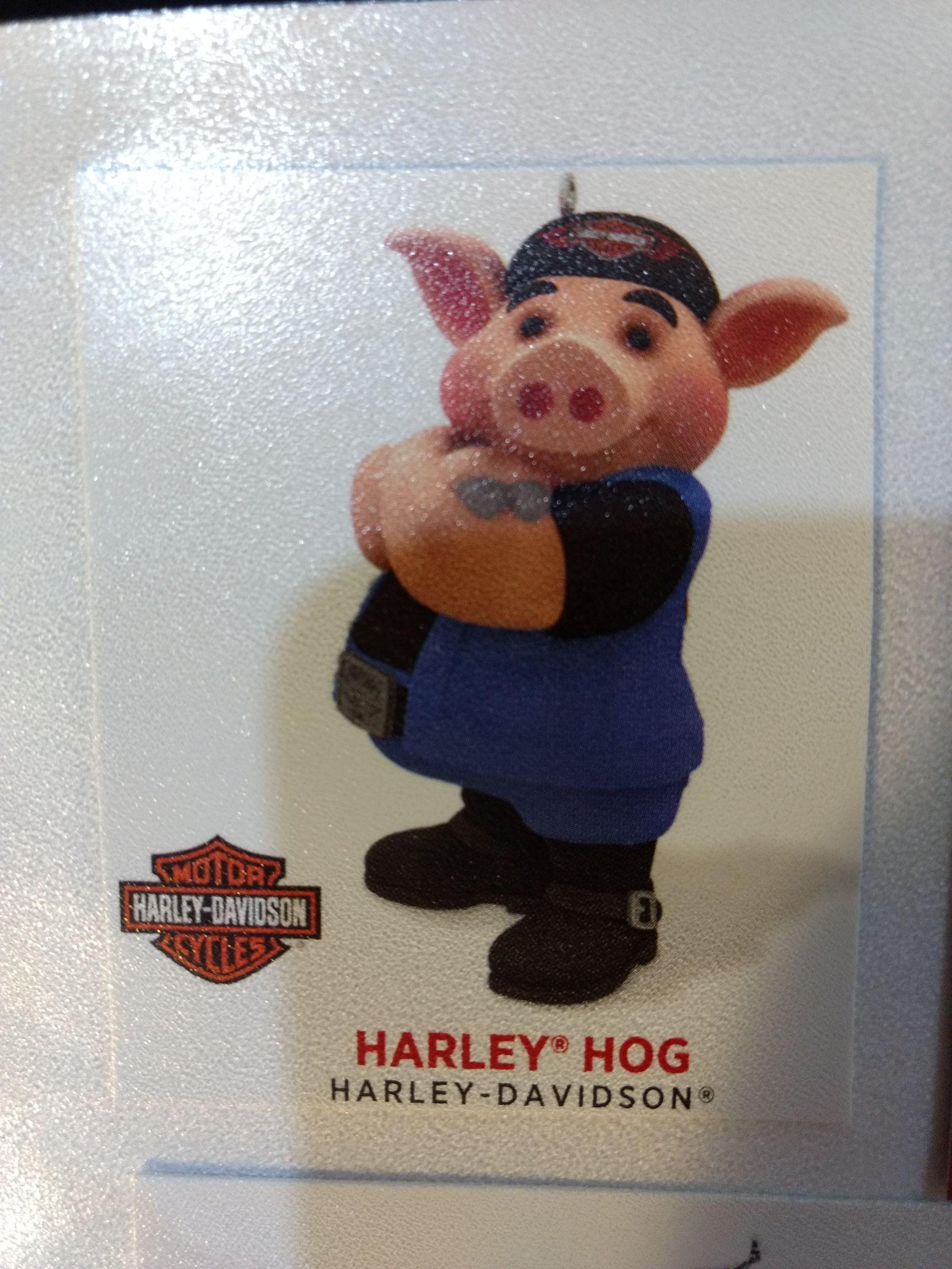 Harley Davidson - Harley Pig Ornament - Hallmark front image (front cover)