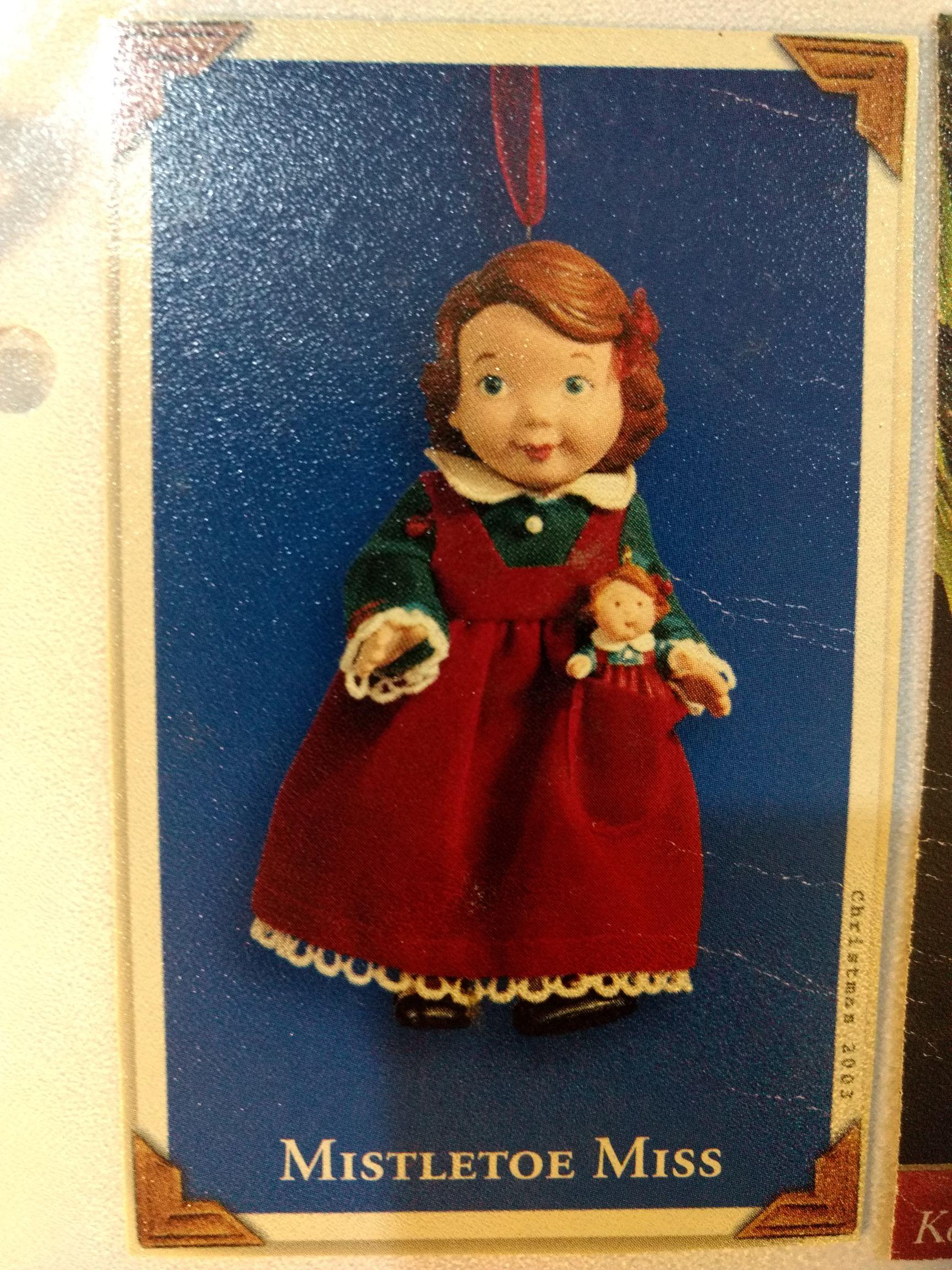 Madame Alexander - Mistletoe Miss Ornament - Hallmark front image (front cover)
