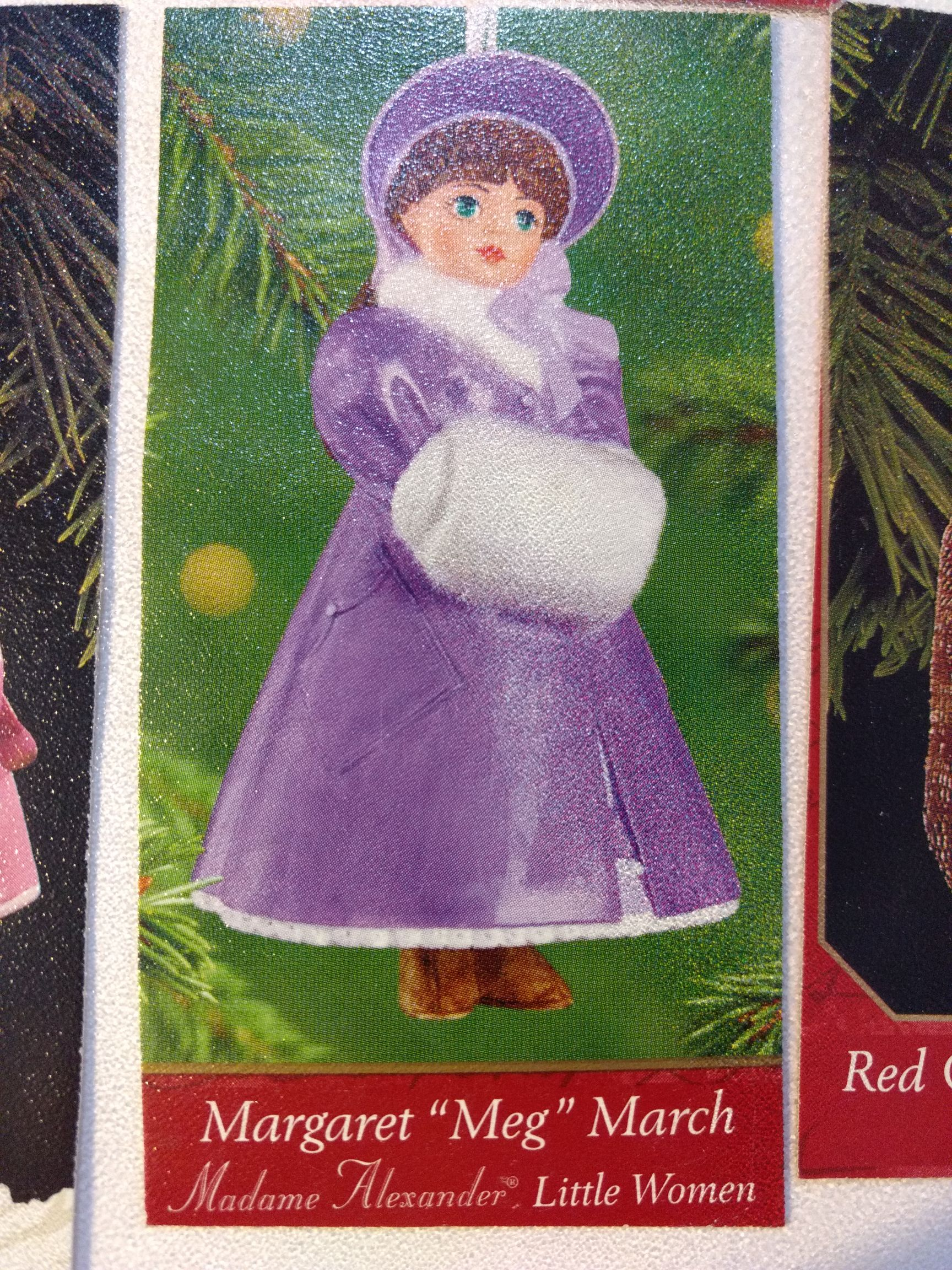 Madam Alexander - Margaret Meg March - Little Women Ornament - Hallmark front image (front cover)