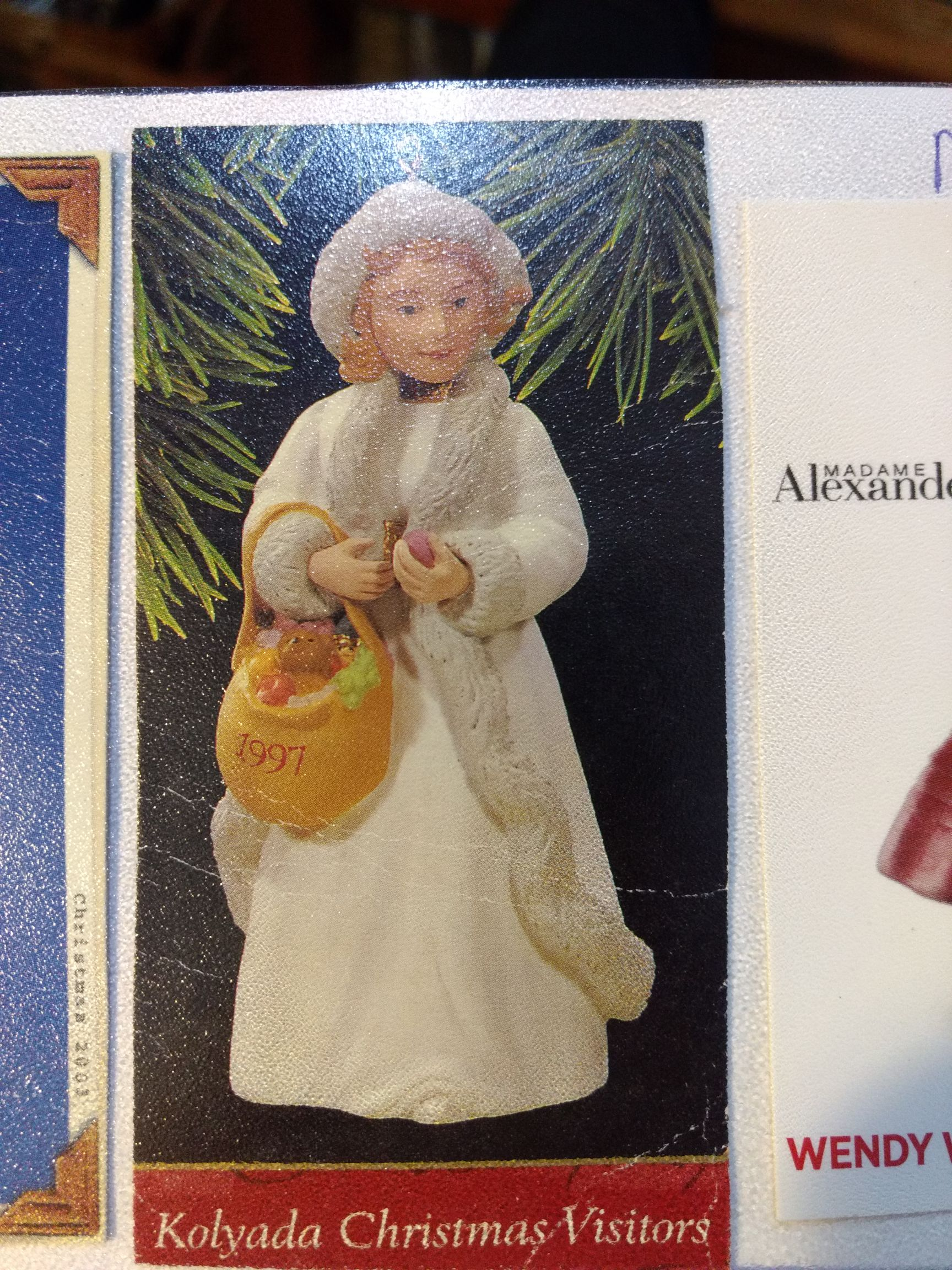 Madam Alexander - Kolyada Christmas Visitors Ornament - Hallmark front image (front cover)