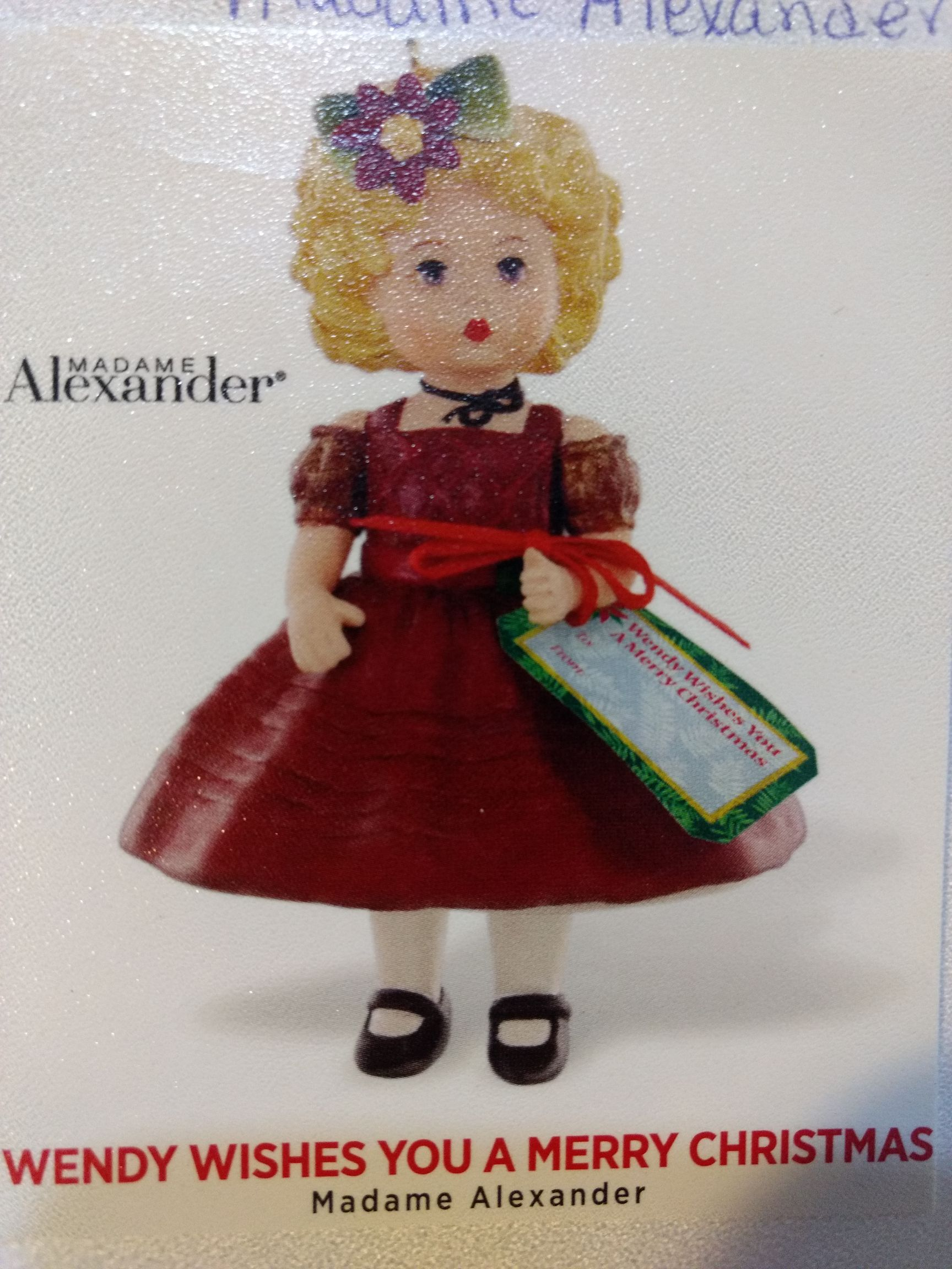 Madam Alexander - Wendy Wishes You A Merry Christmas Ornament - Hallmark front image (front cover)