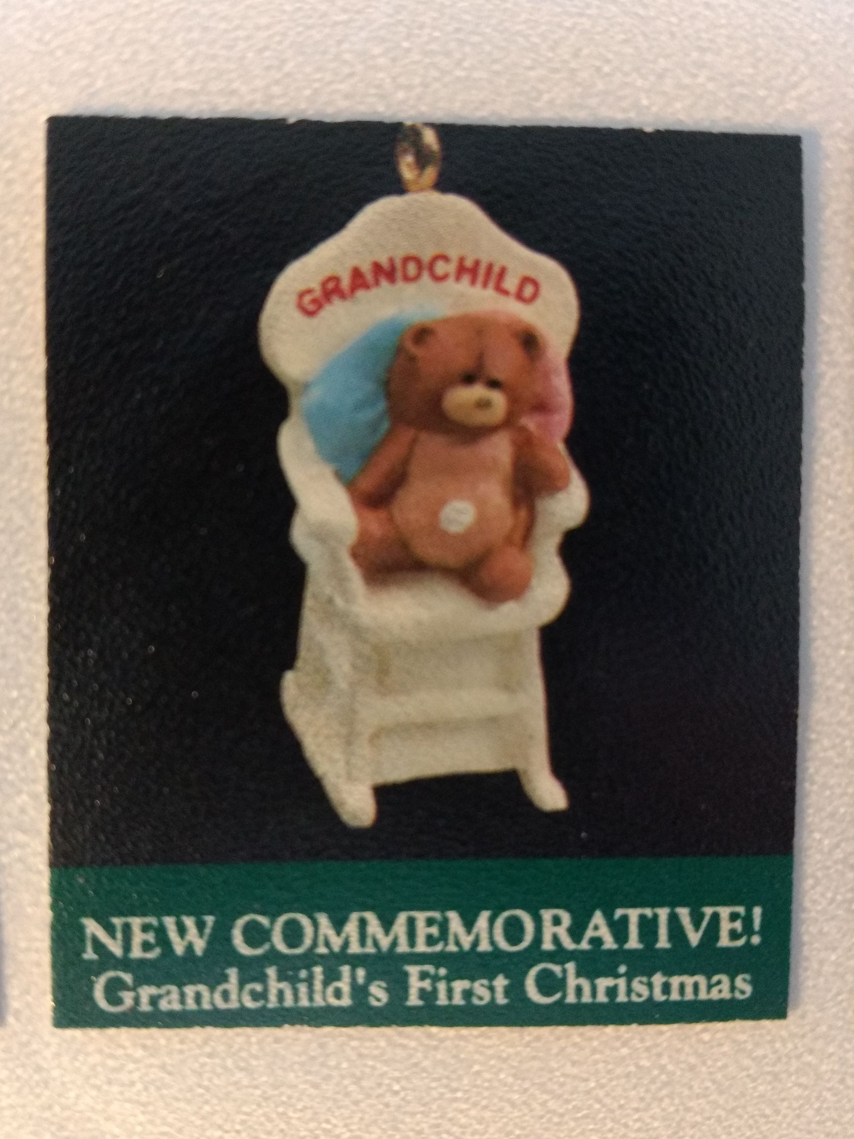 Z - Grandchilds First Christmas Ornament - Hallmark front image (front cover)