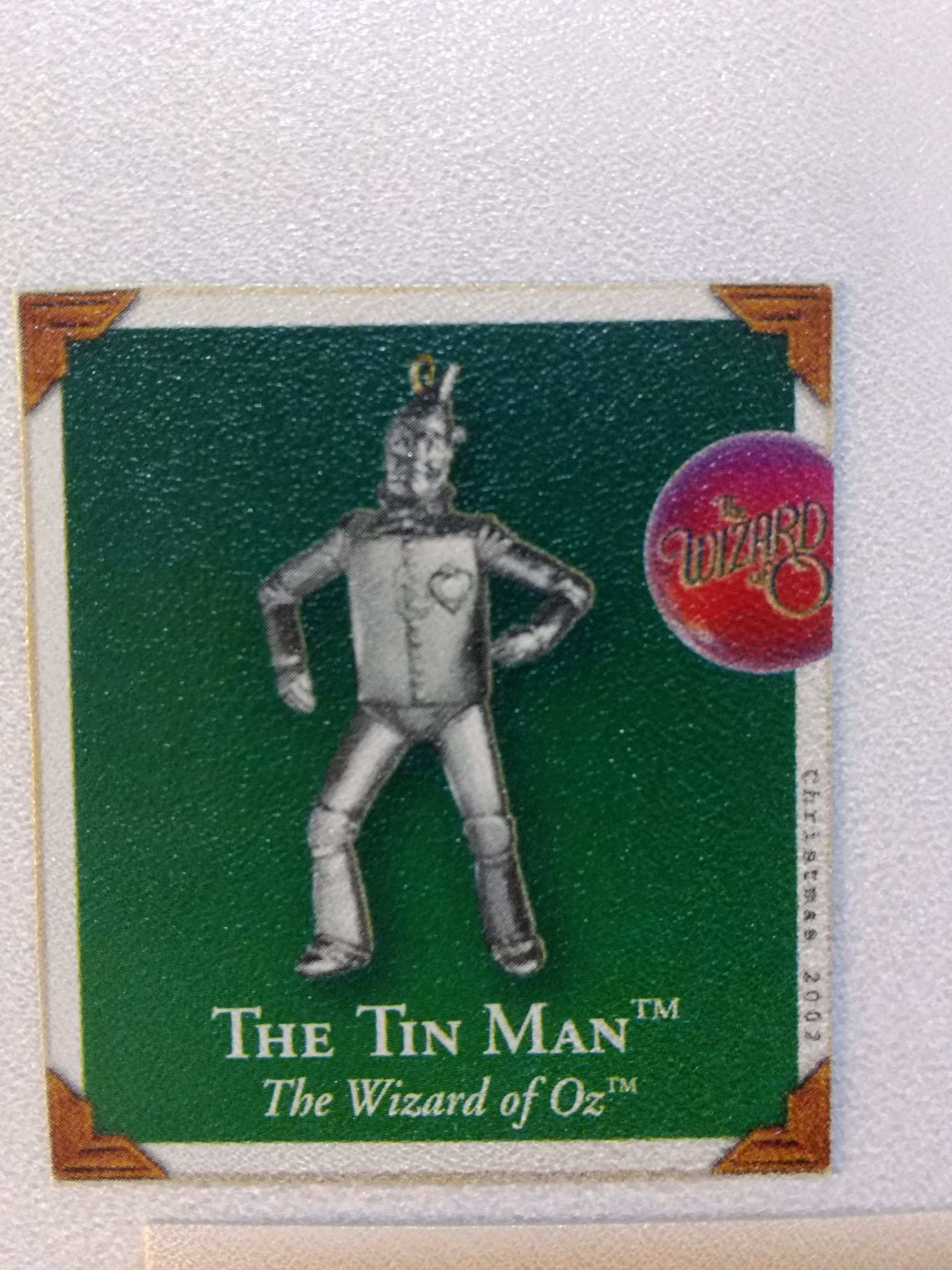 Z - Wizard Of Oz -The Tin Man's Heart Ornament - Hallmark front image (front cover)