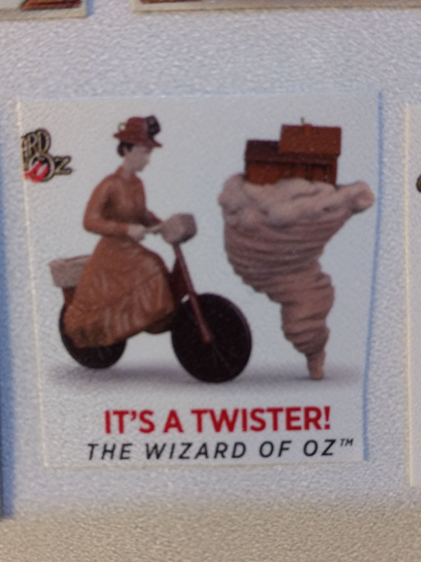 Z - Wizard Of Oz - It's A Twister Ornament - Hallmark front image (front cover)