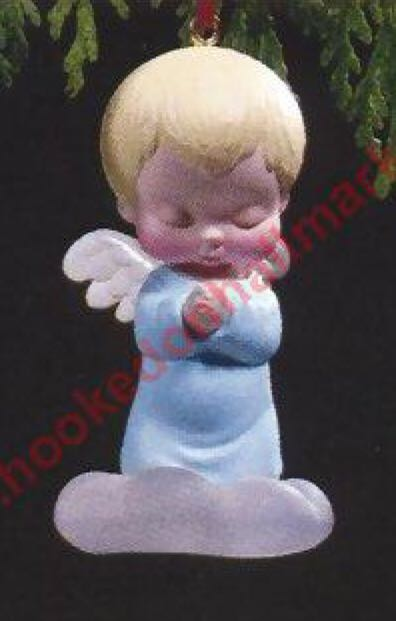Mary's Angels #2 Bluebell Ornament - Hallmark (1989) front image (front cover)