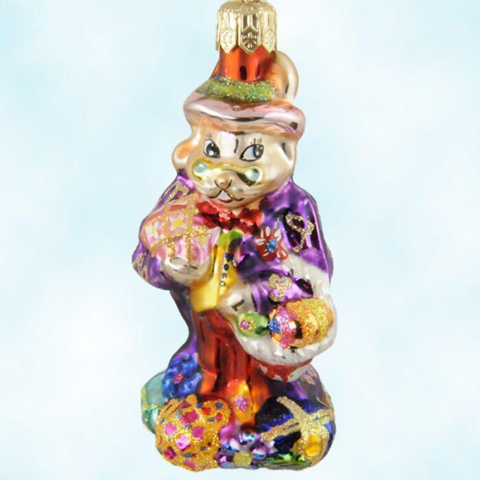 Dapper Hare Gem Ornament - Christopher Radko (2000) front image (front cover)