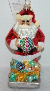 Fantasies Santa Sees Ornament - Christopher Radko (2000) front image (front cover)