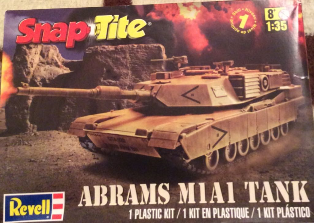 Abrams M1A1 Tank Plane - Revell front image (front cover)