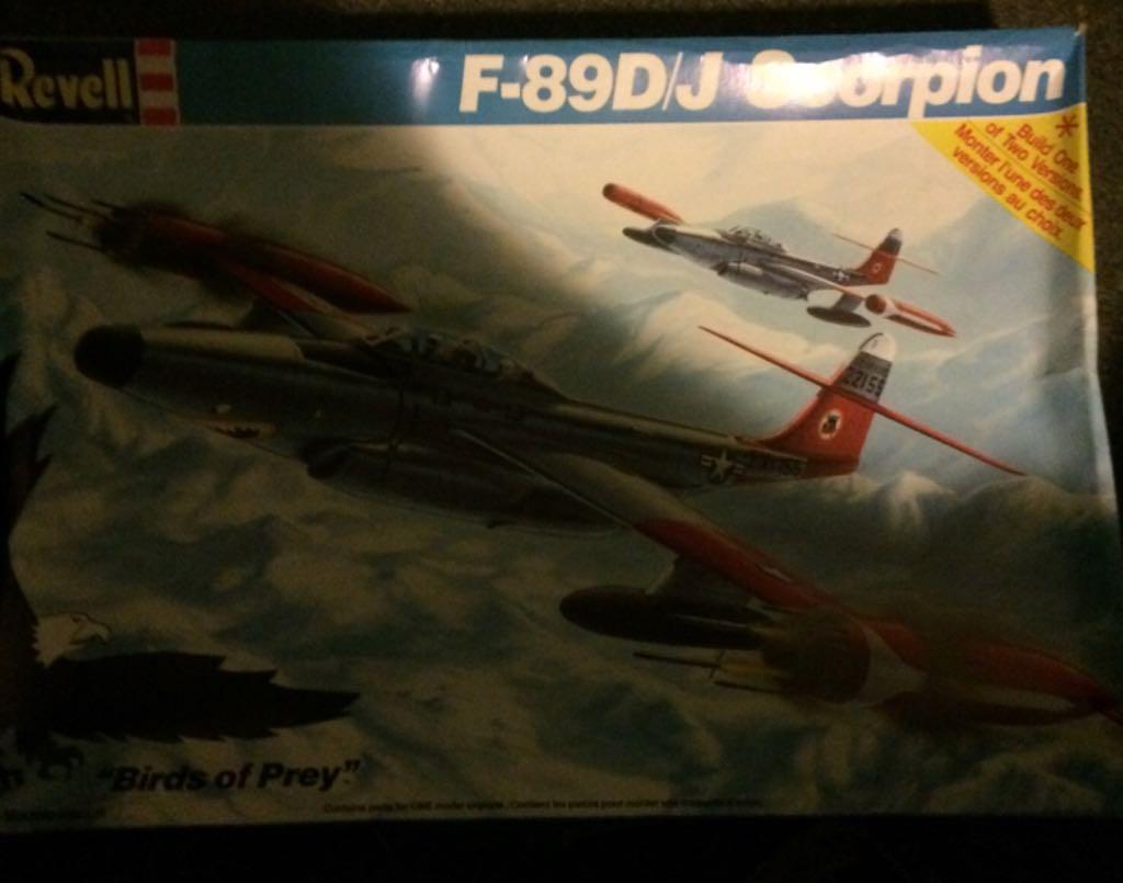 F-89D/J Scorpion Plane - Revell (F-89J Scorpion) front image (front cover)