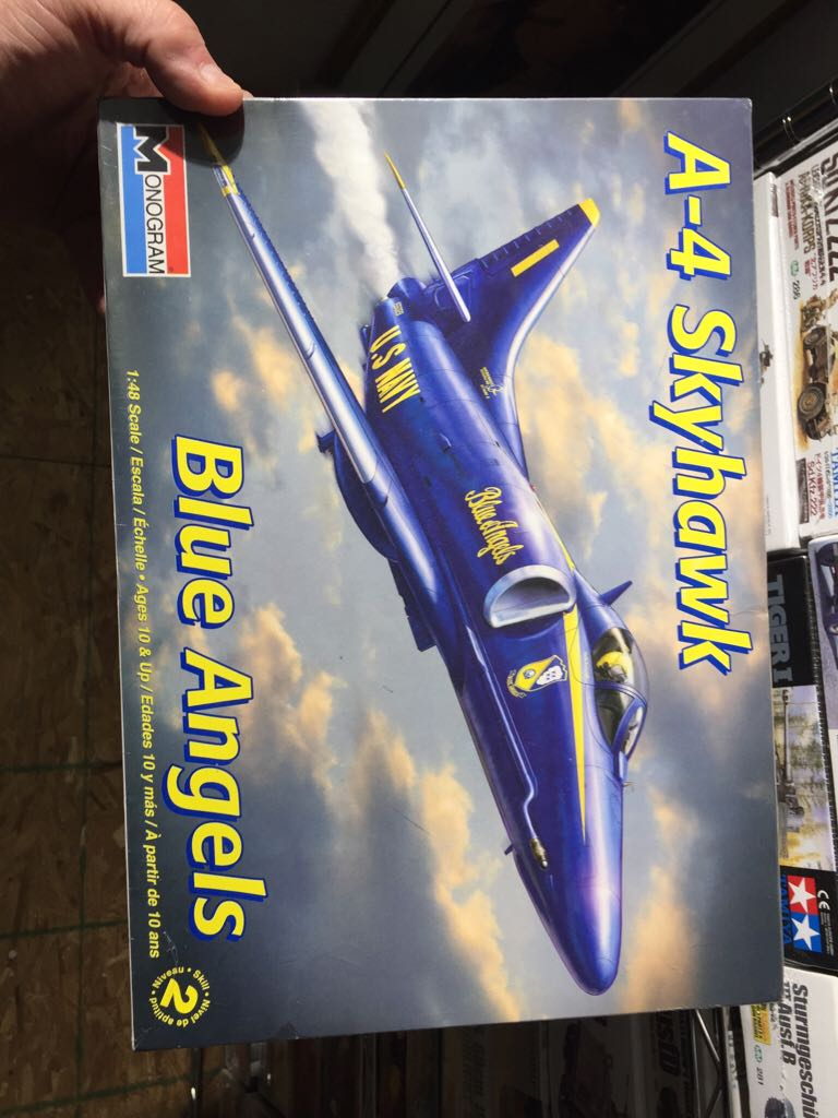 A-4 Skyhawks Blue Angels Plane - Monogram (Attack Fighter) front image (front cover)