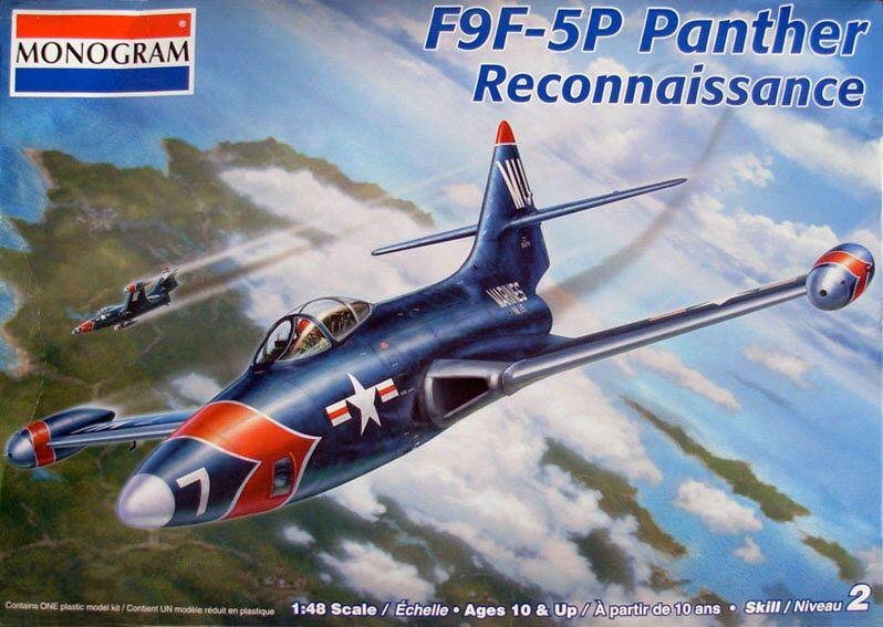 F9F-5P Panther Plane - Grumman (Reconnaissance Jet) front image (front cover)