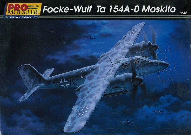 Ta 154 A-0 Miskito Plane - Focke Wulf (WW2 Night Fighter) front image (front cover)