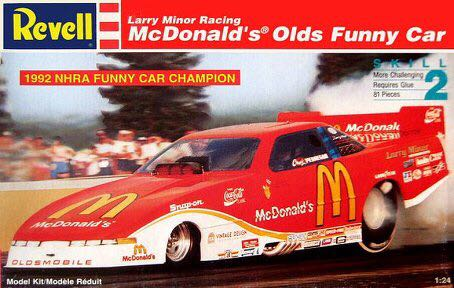 Larry Minor Racing McDonald's Olds Funny Car Plane - Revell front image (front cover)