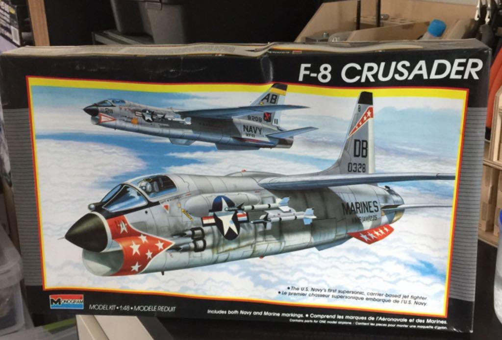 F-8 Crusader Plane - Vought (F-8 Crusader) front image (front cover)