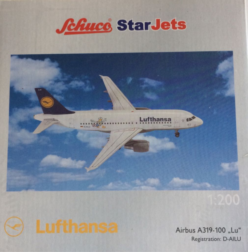 Lufthansa A319-100 D-AILU Plane - Airbus (A319) front image (front cover)