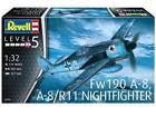 Revell Germany WWII German Focke Wulf Fw190 A-8/R11 Night Fighter model kit 1/32 Plane - Focke Wulf (Fw 190 A-8, A8/R11) front image (front cover)