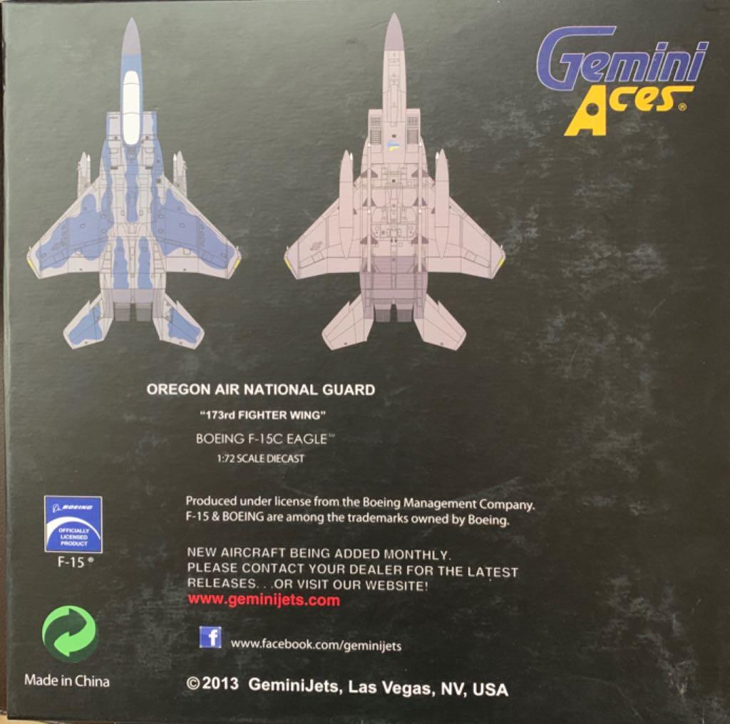 BOEING F-15C EAGLE Plane - BOEING back image (back cover, second image)