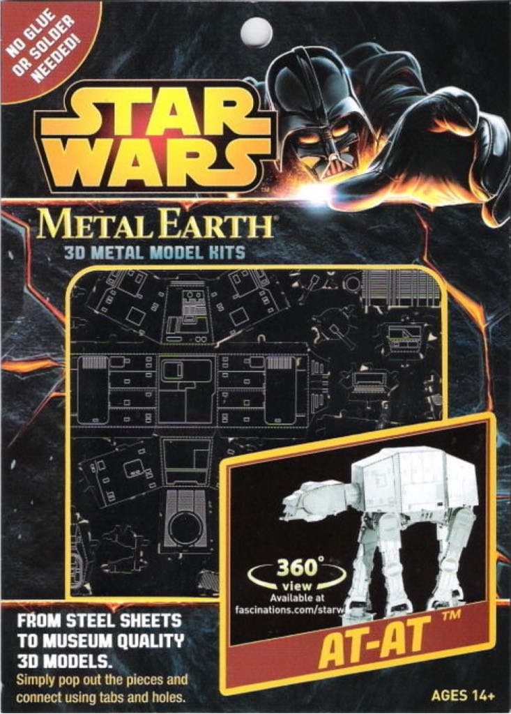 AT-AT Plane - Metal Earth back image (back cover, second image)