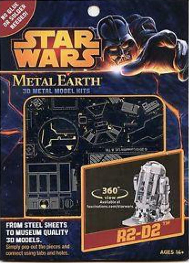 R2-D2 Plane - Metal Earth back image (back cover, second image)