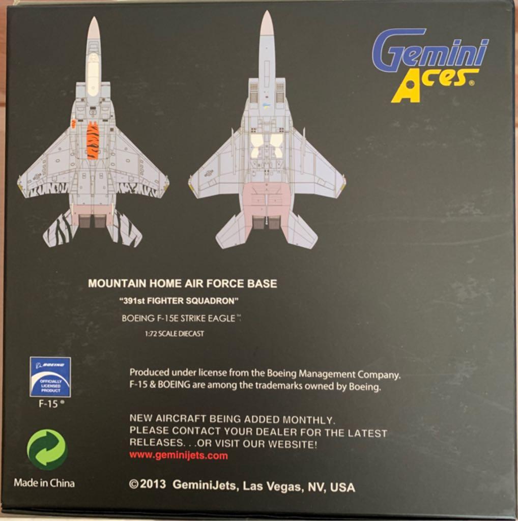 F-15E STRIKE EAGLE Plane - BOEING back image (back cover, second image)