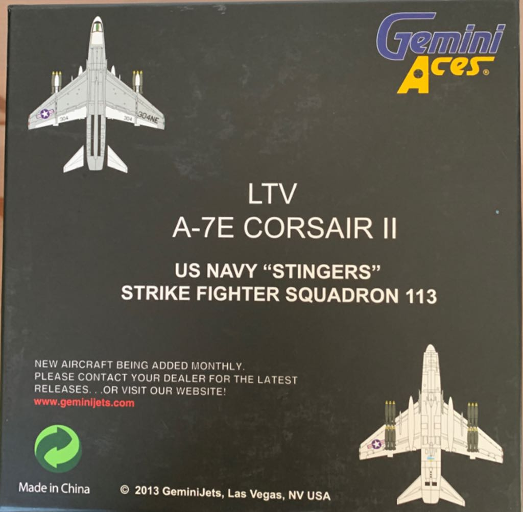 LTV A-7E CORSAIR II Plane - N/A back image (back cover, second image)