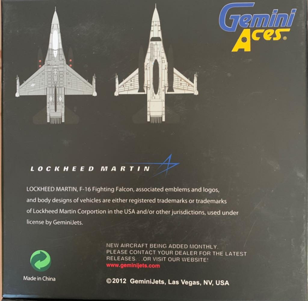 F16 Fighting Falcon Plane - LOCKHEED MARTIN back image (back cover, second image)