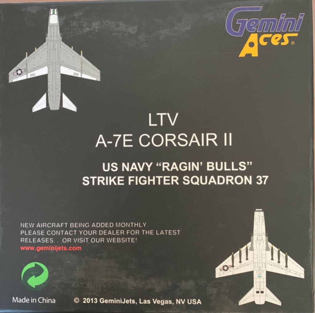 "LTV A-7E CORSAIR II ""RAGIN' BULLS"" Plane - N/A back image (back cover, second image)"