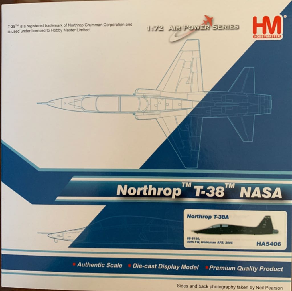 Northrop T-38 NASA Plane - N/A front image (front cover)