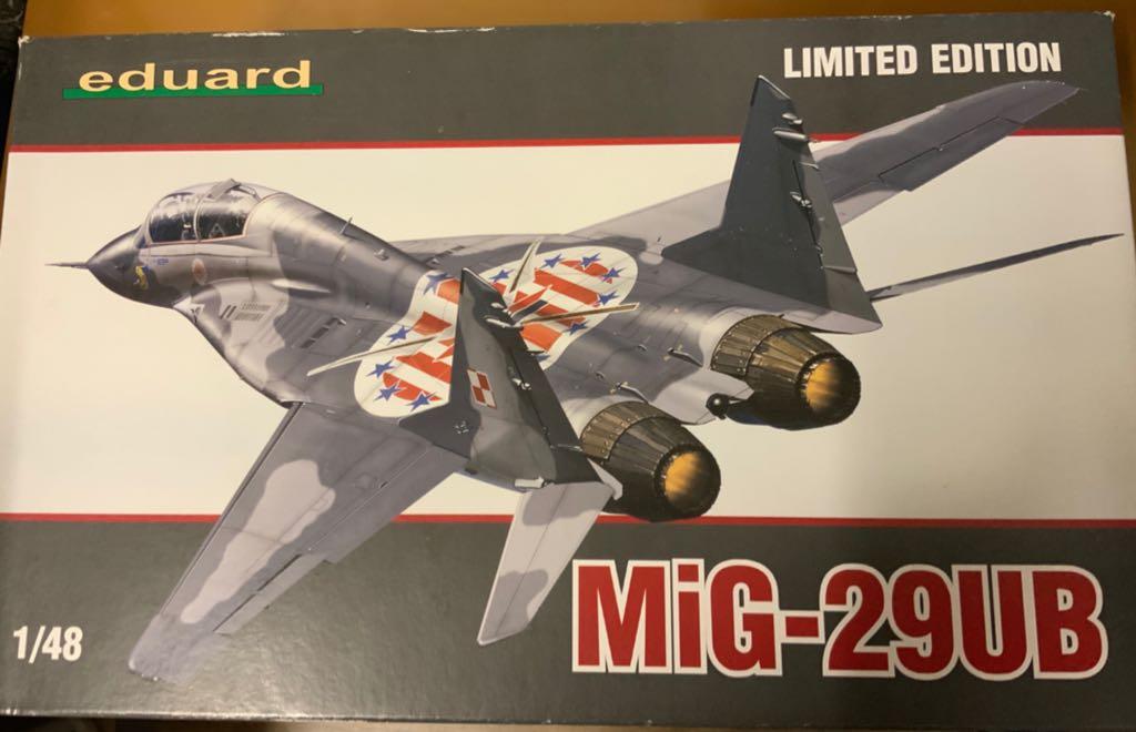 Eduard Mig-29ub Plane - Mig front image (front cover)