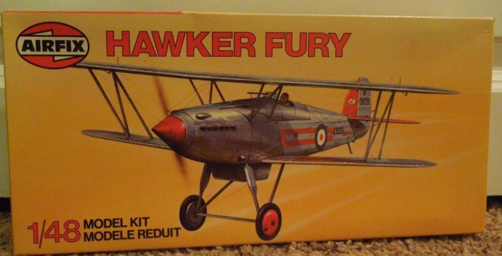 Airfix 1.48 Fury Plane - Hawker front image (front cover)