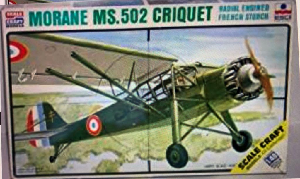 Ms 502 Criquet Plane - Morane Saulnier (Ww2 Spotter) front image (front cover)