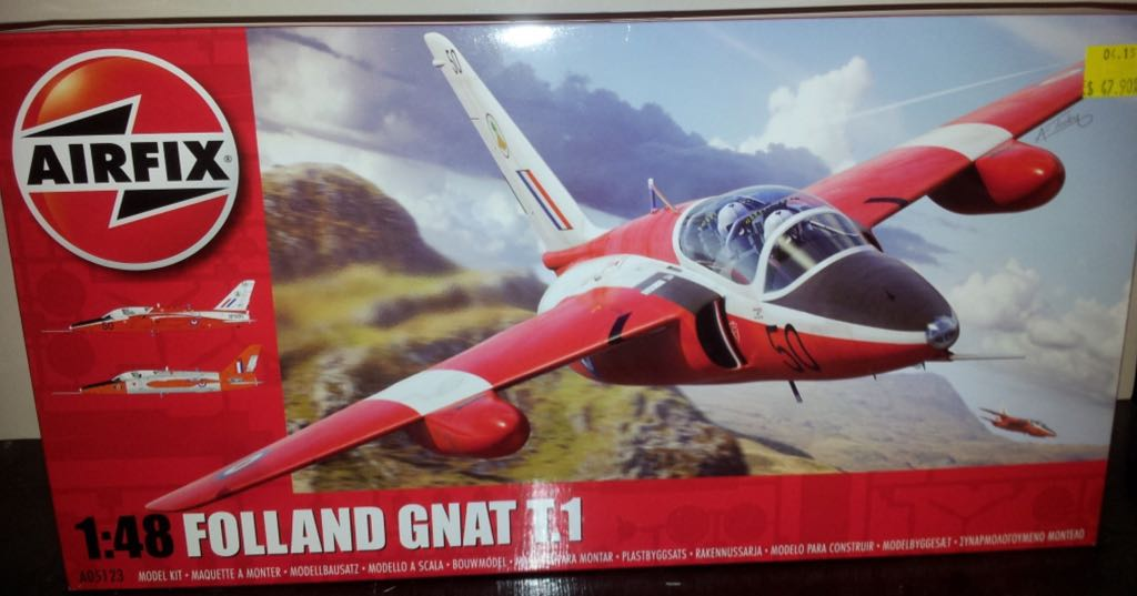Gnat T.1 Plane - Folland (Fighter Jet) front image (front cover)